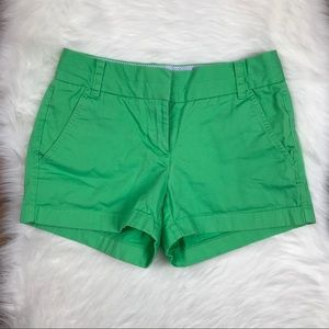 "J. Crew Green Chino Shorts 3"" Inseam"